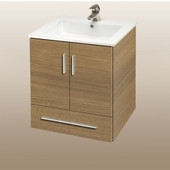 Wall-Hung Daytona 21'' Vanity for Laguna Ceramic Sinks in Golden Wheat with Polished Frame & Hardware, 2 Doors & 1 Drawer (Wall Mounting Hardware included)