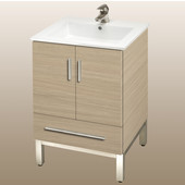 Daytona 21'' Two Doors And One Drawer Vanity for Laguna Ceramic Sink in Pickled Oak with Polished Frame & Hardware
