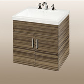 Wall-Hung Daytona 24'' Vanity for Tribeca Ceramic Sink in Timber Gloss with Polished Hardware, 2 Doors