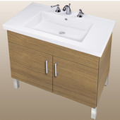 Empire Daytona 30'' Two Doors Vanity for Fiorella Ceramic Sink in Golden Wheat with Satin Frame & Hardware