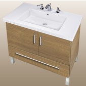 Empire Daytona 30'' Two Doors And One Bottom Drawer Vanity for Fiorella Ceramic Sink in Golden Wheat with Satin Frame & Hardware