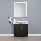 Daytona 2 Doors Bathroom Vanity for 34'' Ipanema Ceramic Sink Top in Blackwood with Polished or Satin Leg Frame and Hardware