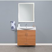 Daytona 2 Doors and 1 Bottom Drawer Bathroom Vanity for 34'' Ipanema Ceramic Sink Top in Golden Wheat with Polished or Satin Leg Frame and Hardware