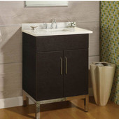 Daytona 24'' Vanity for 2522 Stone Countertops with Multiple Finishes, Sink and Frame & Hardware Option