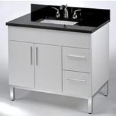Daytona 36'' Vanity for 3722 Stone Countertops with Multiple Finishes, Sink and Frame & Hardware Option