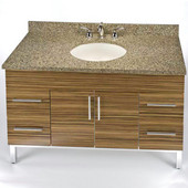 Daytona 48'' Vanity for 4922 Stone Countertops with Multiple Finishes, Sink and Frame & Hardware Option