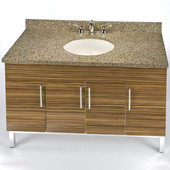 Daytona 48'' Vanity for 4922 Single Bowl Stone Countertops with Multiple Finishes, Sink and Frame & Hardware Option