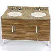 Daytona 48'' Vanity for 4922 Double Bowl Stone Countertops with Multiple Finishes, Sink and Frame & Hardware Option