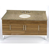 Daytona 60'' Vanity for Single Bowl Cut-Out Stone Countertops with Multiple Finishes, Sink and Frame & Hardware Option