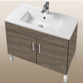 Daytona Collection 30'' 2-Door Bathroom Vanity in Bermuda Days with Polished or Satin Leg Frame and Hardware with Multiple Sink Top Options
