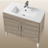 Daytona Collection 30'' 2-Door Bathroom Vanity in Bermuda Nights with Polished or Satin Leg Frame and Hardware with Multiple Sink Top Options