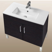 Daytona Collection 30'' 2-Door Bathroom Vanity in Blackwood with Polished or Satin Leg Frame and Hardware with Multiple Sink Top Options