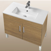 Daytona Collection 30'' 2-Door Bathroom Vanity in Golden Wheat with Polished or Satin Leg Frame and Hardware with Multiple Sink Top Options
