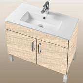 Daytona Collection 30'' 2-Door Bathroom Vanity in Moroccan Sand with Polished or Satin Leg Frame and Hardware with Multiple Sink Top Options
