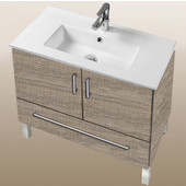Daytona Collection 30'' 2-Door/1-Drawer Bathroom Vanity in Bermuda Nights with Polished or Satin Leg Frame and Hardware with Multiple Sink Top Options