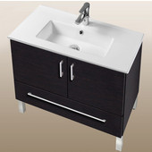 Daytona Collection 30'' 2-Door/1-Drawer Bathroom Vanity in Blackwood with Polished or Satin Leg Frame and Hardware with Multiple Sink Top Options