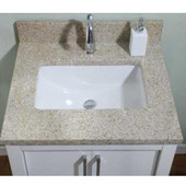 Empire 1-1/4'' Euro Granite Golden Peach Bathroom Vanity Top w/ Rectangular Cut-Out 30''W, Available in Multiple Options