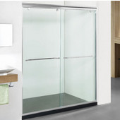 Elite 10mm (3/8'') Thick Clear Tempered Glass Clean Line Design Shower Doors Enclosure, Fits Wall Opening: 56'' to 60''