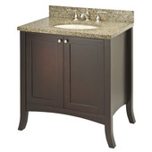 Empire Empress 30'' Vanity, 30'' W x 21-3/5'' D x 33-1/2'' H, Spice Cherry