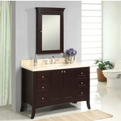 Empire Empress 48'' Vanity, 48'' W x 21-3/5'' D x 33-1/2'' H, Spice Cherry