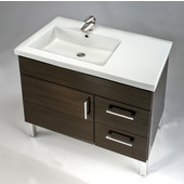 Empire Fiorella 32'' Ceramic Left Side Sink, 3 Hole, 31-1/2'' W x 18-1/8'' D x 7-1/8'' H, White