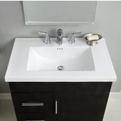 Empire - 24'' Kira Ceramic Sink In White, 1 Hole, Available in Multiple Options