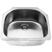 Empire 16-Gauge Undermount Single Bowl Stainless Steel Sink, 23''W x 21''D x 9''H