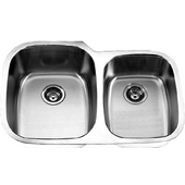 Empire 18-Gauge Undermount Double Bowl Stainless Steel Sink