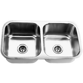 Empire 16-Gauge Undermount Double Bowl Stainless Steel Sink