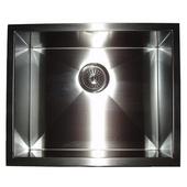 Empire 16-Guage Everest Single Bowl Undermount Sink, 22''W x 18''D x 10''H