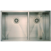 Empire 16-Guage Everest Double Bowl Undermount Sink