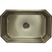 Empire Single Bowl Stainless Steel Octagon Sink