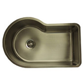 Empire Single Bowl Offset Sink, Round Left Bowl