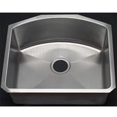 Empire - Single Bowl D-Shape Kitchen Sink, 23''W x 20 1/2'' D, Stainless Steel