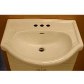 Empire - Metropolitan Bathroom Sink, 24'' W, White