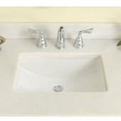 Empire - Rectangular Undermount Sink, 18''W x 12'' D, Biscuit
