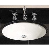 Empire - Small Oval Undermount Sink, 16''W x 12'' D, Biscuit