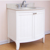 Empire Malibu Collection White Bathroom Vanity 30'' W