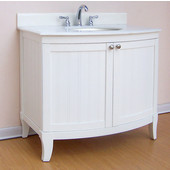 Empire Malibu Collection White Bathroom Vanity 36'' W