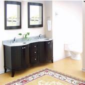 Empie Malibu Collection Dark Bathroom Vanity 60'' W