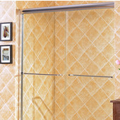 Majestic 10mm (3/8'') Thick Clear Tempered Glass Traditional Shower Doors Enclosure, Available in Multiple Sizes
