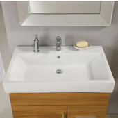 Empire - Milano 21'' Ceramic Sink In White, 1 Hole, Available in Multiple Sizes