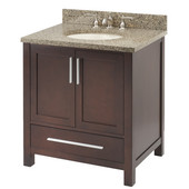Empire Monaco 36'' Two Doors and One Drawer Vanity For 3722 Countertop, Dark Cherry