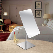 Table Top Rectangular Tilt Cosmetic Mirror 5'' W x 8'' H, 5X Magnification in Polished Chrome