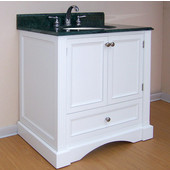 Empire Newport Collection White Bathroom Vanity 30'' W