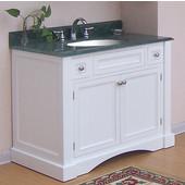 Empire Newport Collection White Bathroom Vanity 42'' W