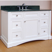 Empire Newport Collection White Bathroom Vanity 48'' W