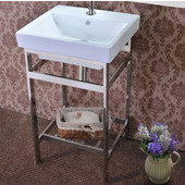 New South Beach Vanity Console in Polished Stainless Steel for 21'' Milano Sink