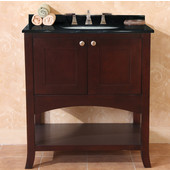 Empire Open Empress 30'' Two Doors Vanity, Spice Cherry