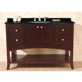 Empire Open Empress 48'' Two Doors and Four Doors Vanity, Spice Cherry